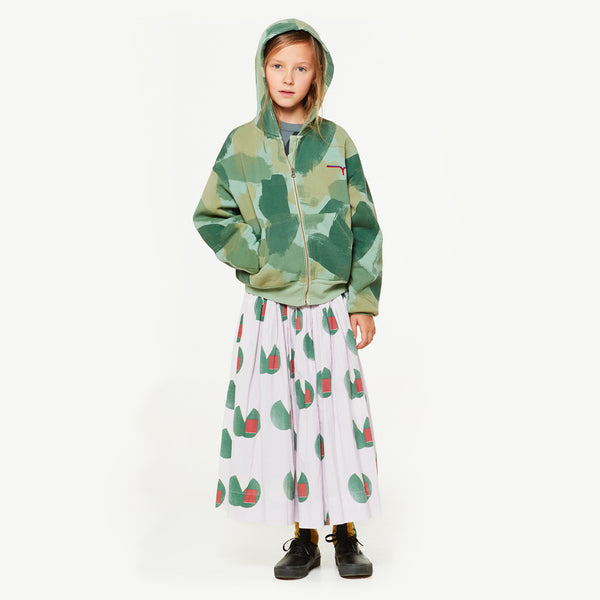 Girls Green Camouflage Cotton Sweatshirt