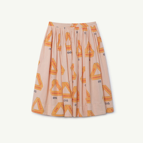 Girls Rose Triangles Cotton Skirt