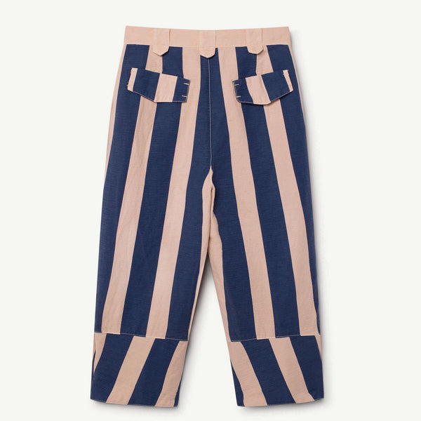 Boys & Girls Rose Blue Striped Cotton Trousers