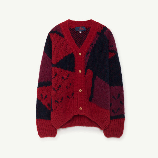 Girls Red Apple Cardigan