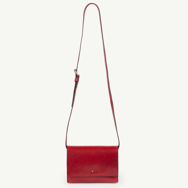 Girls Red Apple Leather Bag