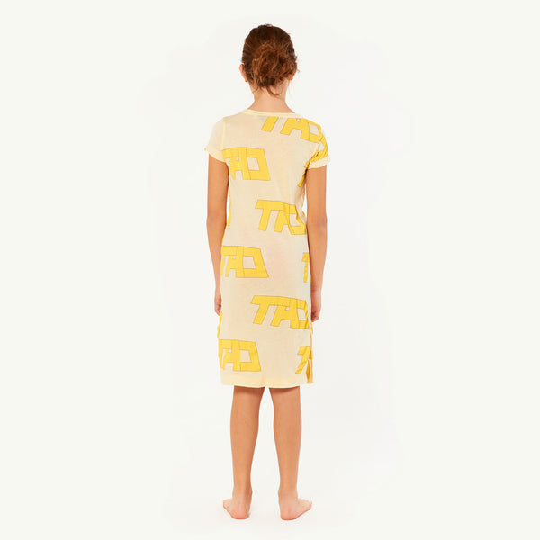 Girls Yellow Cotton Dress