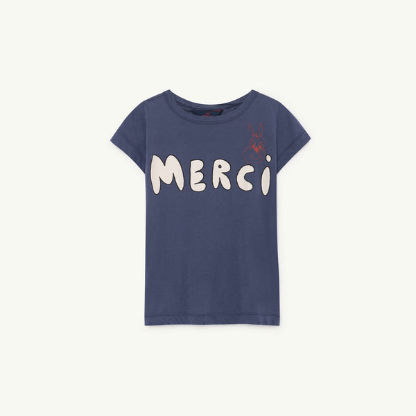 Girls Blue Merci Cotton T-shirt
