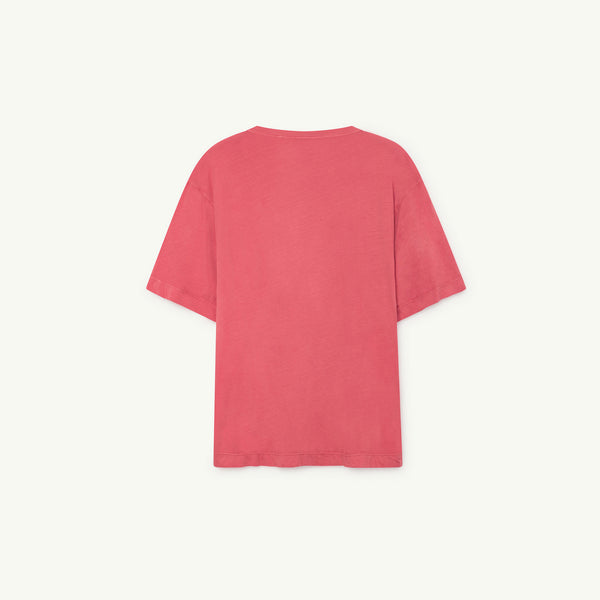 Girls Red Shells Cotton T-shirt