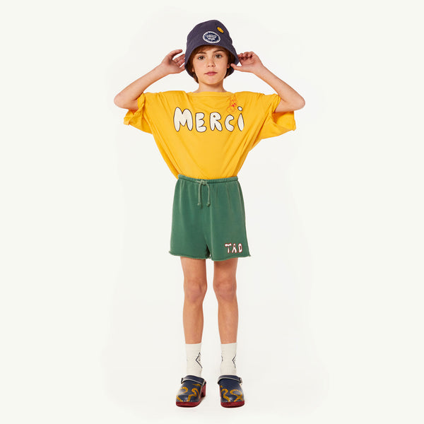 Girls Yellow Merci Cotton T-shirt
