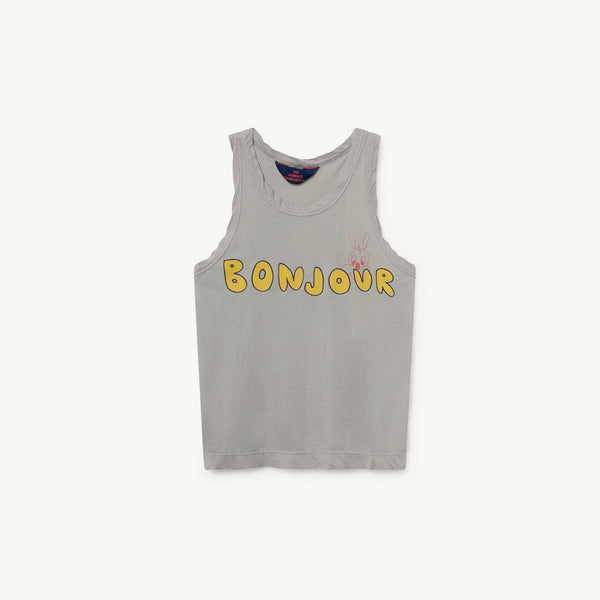 Boys Green Bonjour Cotton T-shirt