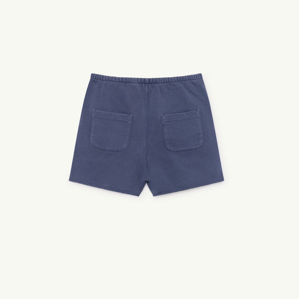 Girls Blue Cotton Shorts