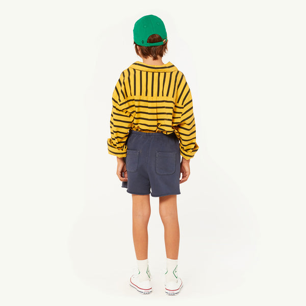 Girls & Boys Yellow Stripes Cotton Shirt