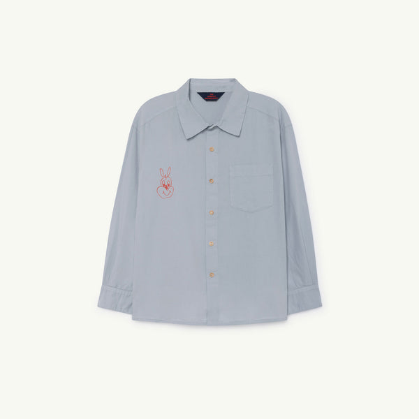 Boys & Girls Blue Rabbit Cotton Shirt