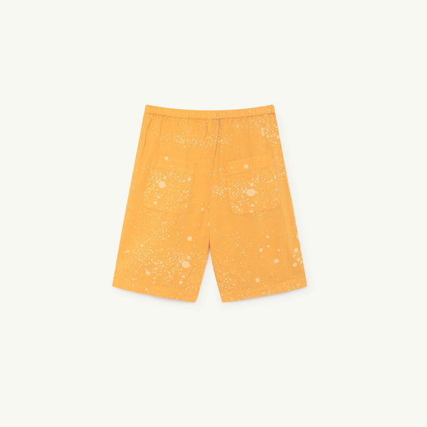 Girls Yellow Cotton Shorts