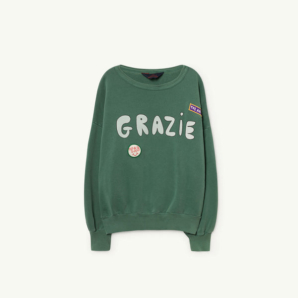 Girls & Boys Green Grazie Cotton Sweatshirt