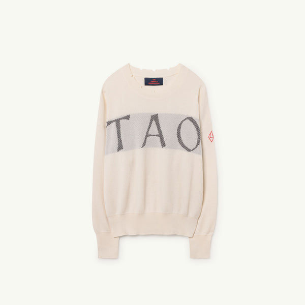 Girls Raw White Cotton Sweater