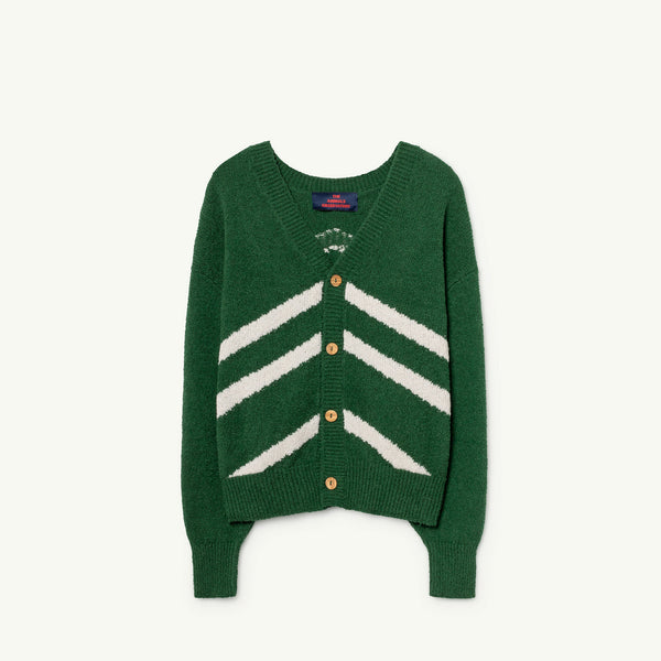 Girls & Boys Electric Green Cotton Cardigan