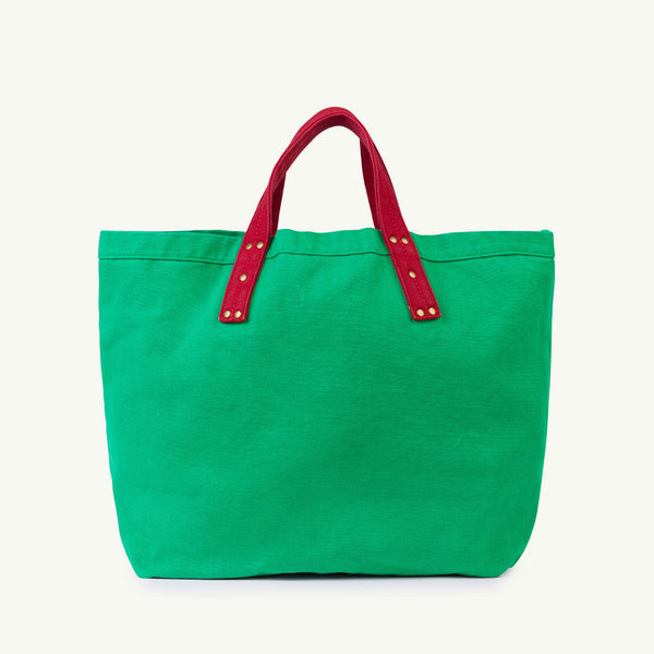 Girls Green Cotton Handbag