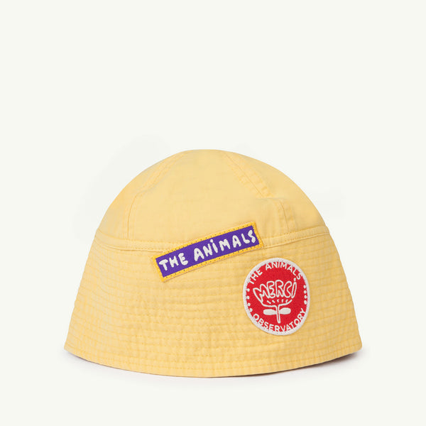 Boys & Girls Yellow Cotton Hat