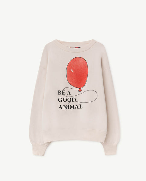 Boys & Girls Light Pink Balloon Cotton Sweatshirt