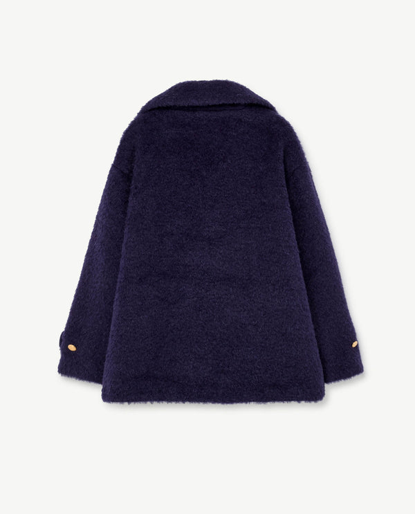 Girls Blue Wool Coat
