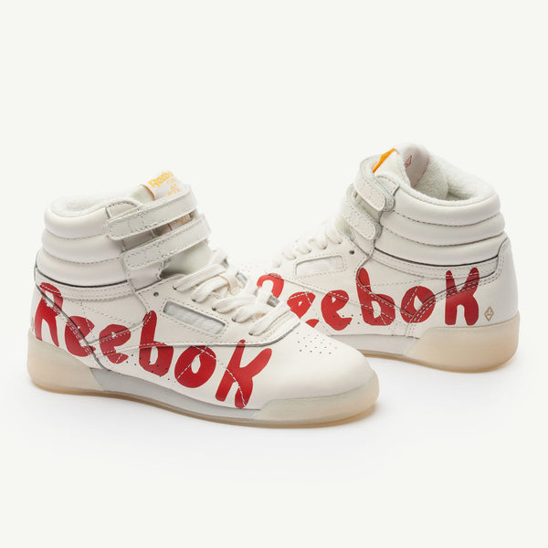 Boys & Girls Beige Cow Leather & Textile Sneakers
