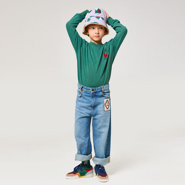 Boys Mulitcolor Cow Leather & Textile Sneakers