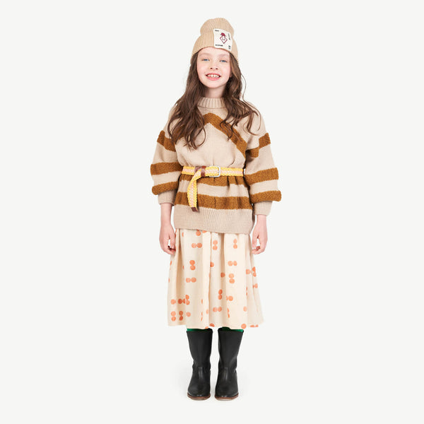 Boys & Girls Brown Cotton Hat
