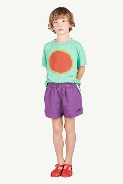 Boys & Girls Green Sun Cotton T-shirt