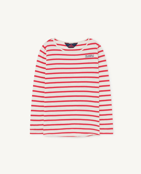 Boys & Girls Red Stripe Cotton Top