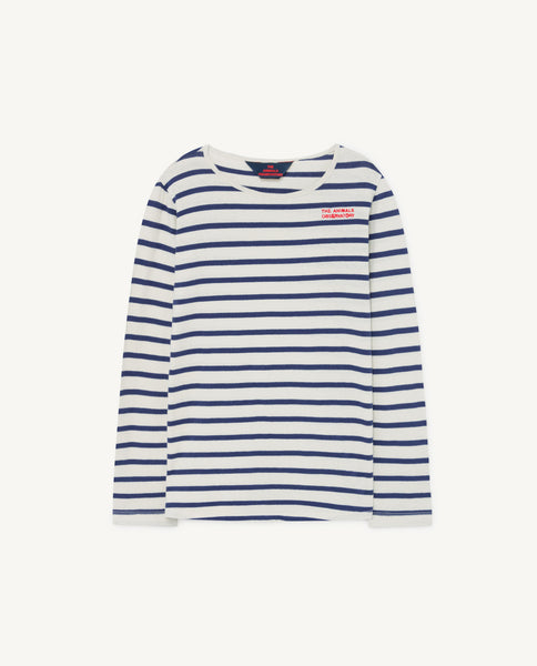 Boys & Girls Blue Stripe Cotton Top