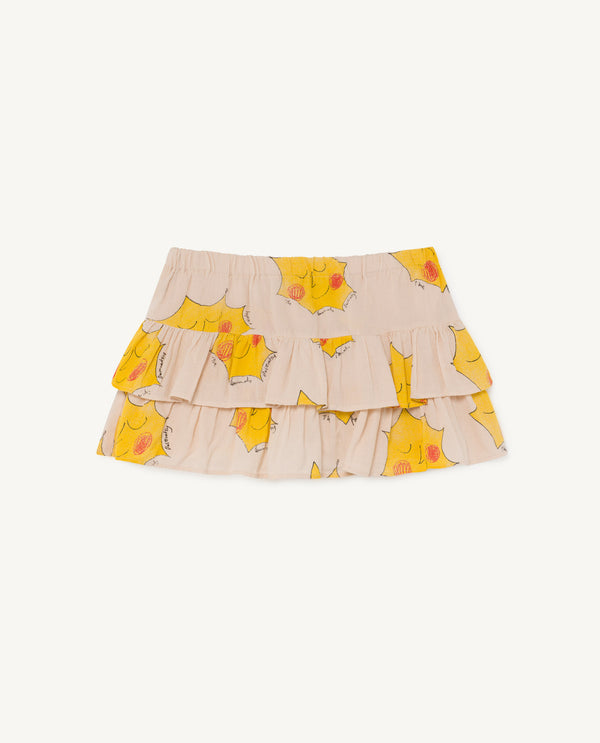 Girls Pink Sun Cotton Skirt
