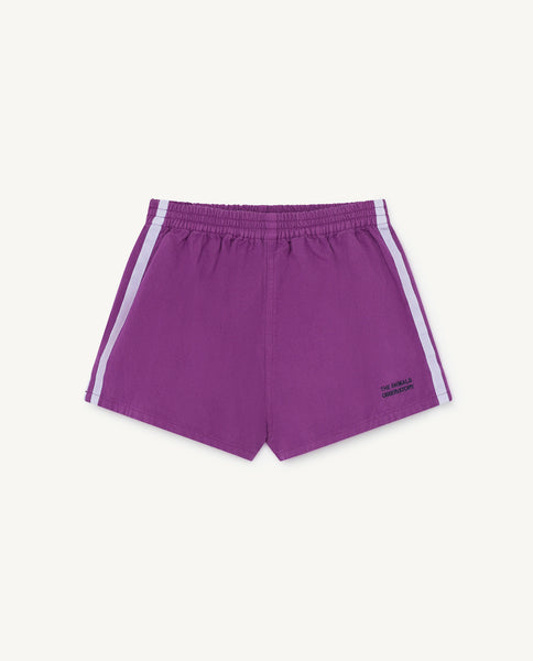 Boys & Girls Purple Cotton Shorts