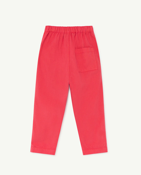 Boys & Girls Red Cotton Trousers