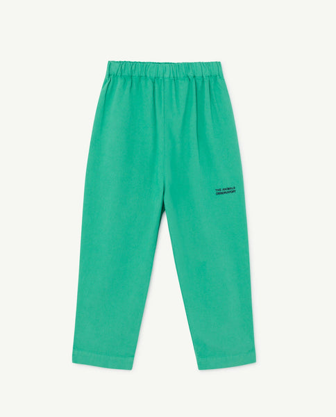 Boys & Girls Green Cotton Trousers