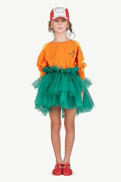 Girls Green Tulle Skirt