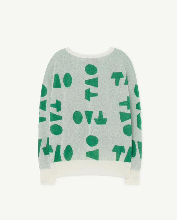 Boys & Girls Light Green Cotton Sweater