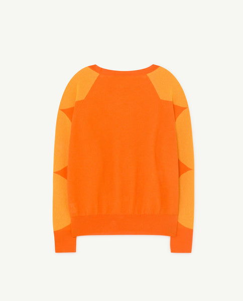 Girls Orange Logo Cotton Sweater