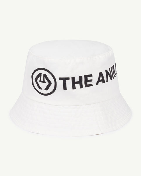Boys & Girls White Logo Cotton Hat