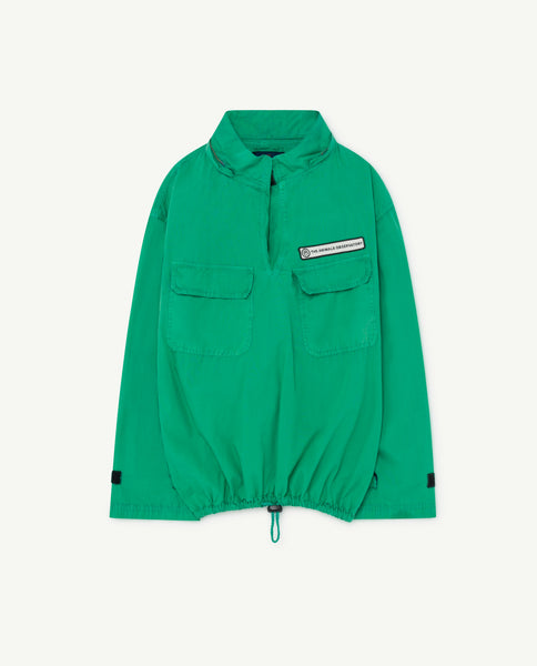 Boys & Girls Green Hooded Jacket