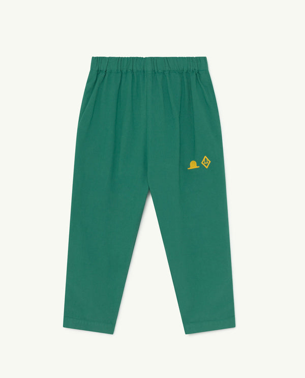 Boys & Girls Green Hat Cotton Trousers