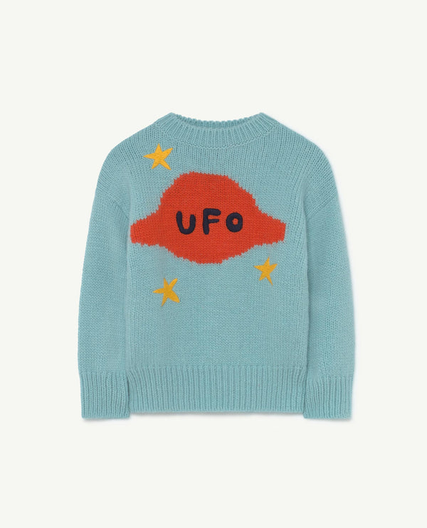 Boys & Girls Soft Blue Organic Wool Sweater