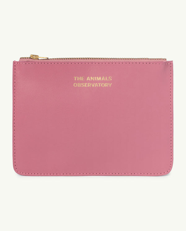 Boys & Girls Pink Logo Leather Purse