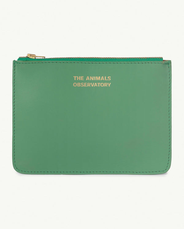 Boys & Girls Green Logo Leather Purse