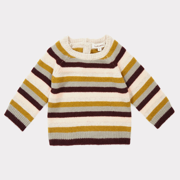 Baby Rosewood Striped Sweater