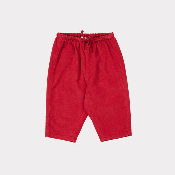 Baby Tomato Cotton Woven Trousers