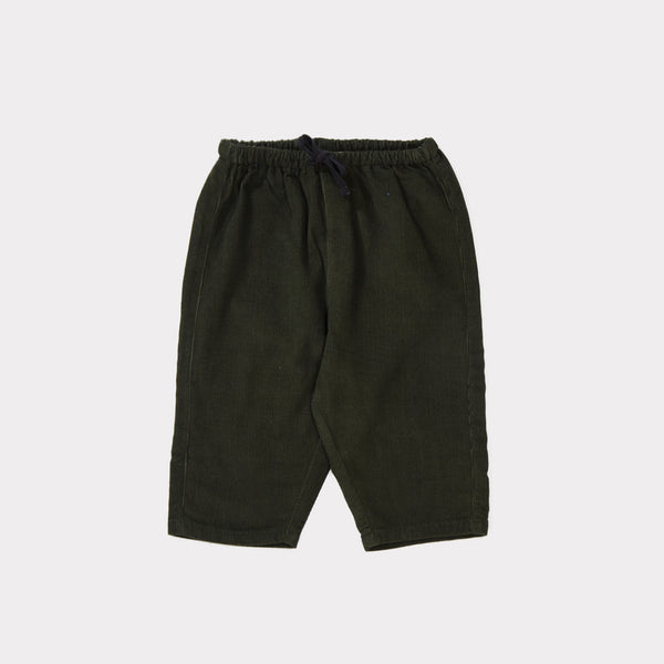 Baby Forest Green Cotton Trousers