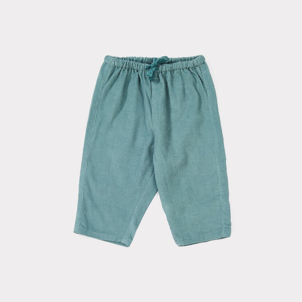 Baby Cameo Blue Cotton Woven Trousers