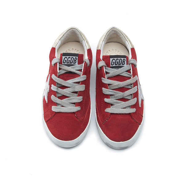 Baby Boys & Girls Red & Silver Star Leather Shoes