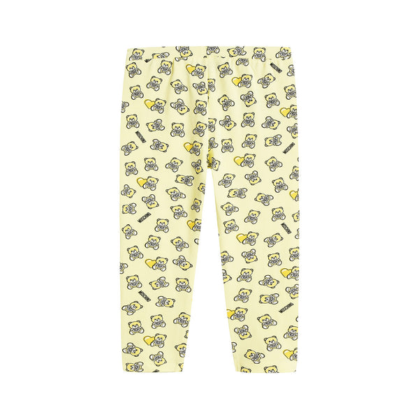 Baby Girls Yellow Cotton Leggings