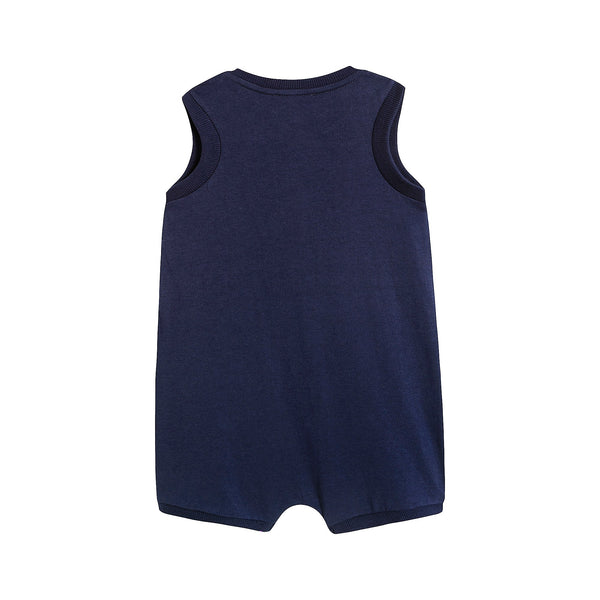 Baby Boys & Girls Navy Cotton Romper