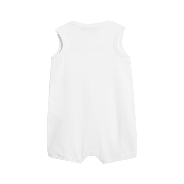 Baby Boys & Girls White Cotton Romper