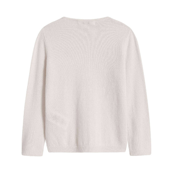 Girls Off White Cashmere Sweatshirt