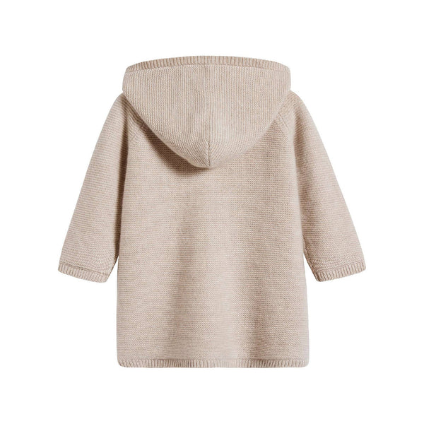 Baby Boys & Girls Natural Cashmere Hoodie